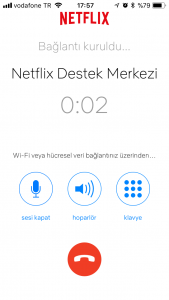 Netflix çağrı merkezi görüşme